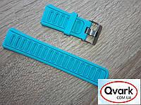 Ремешок силиконовый Q360  Q610 голубой