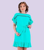 Женское льняное платье. Модель 136.  Размеры 44-50
