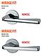 Дверная ручка VDS Mirage Fit тонкая розетка хром, фото 3