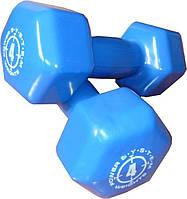 Гантель обрезиненная для фитнеса и аэробики 4 кг Power System