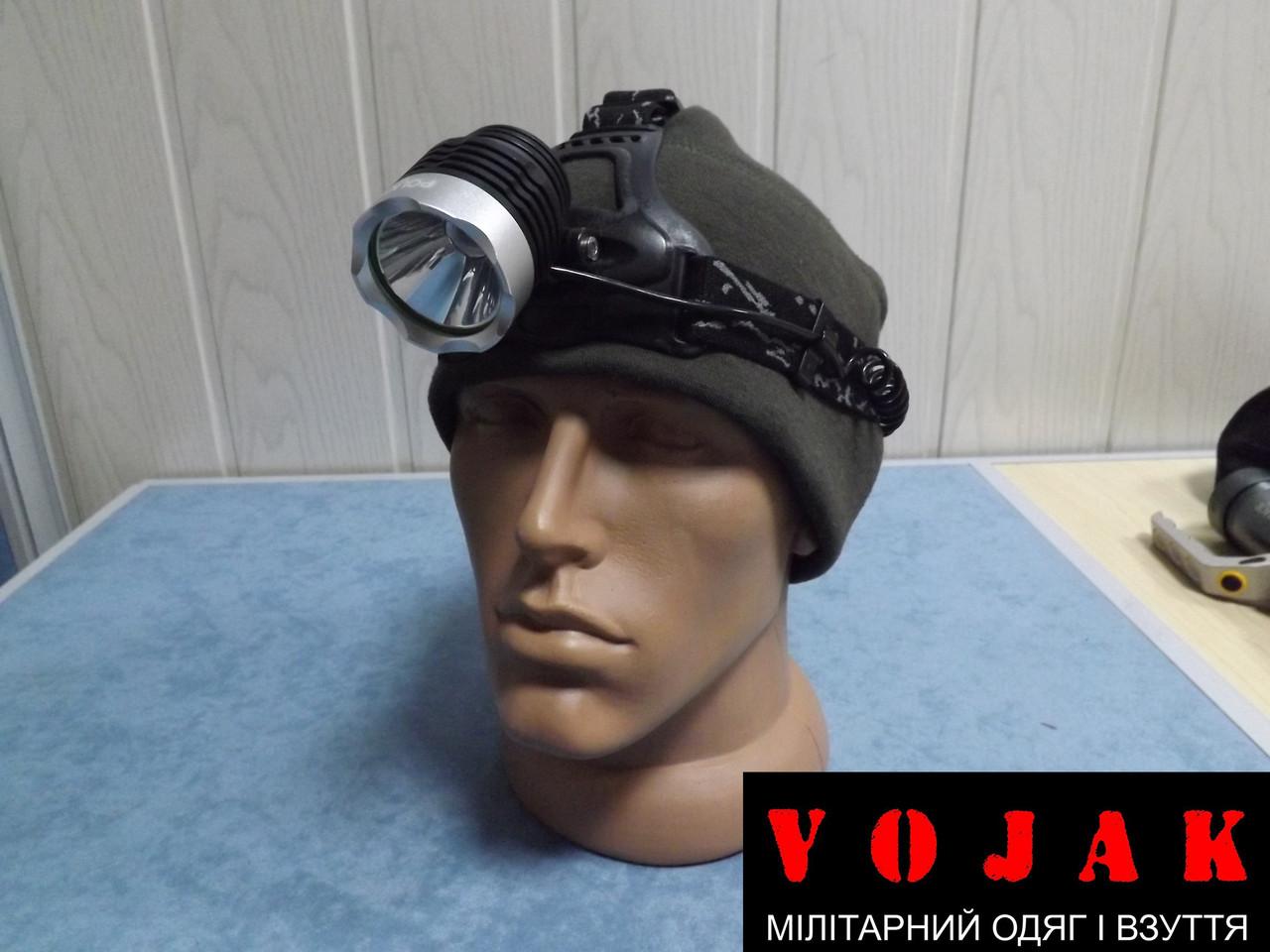Фонарь на лоб Police 12V XQ-15-T6, 2 ак.18650