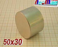 Польский неодимовый магнит 50*30, ✔N42, ✔115 кг, ✔Сертификат, ✔гарантия работы✔