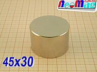 ☣Реально польский☣ неодимовый магнит 45х30, 100кг, ✓N42, ◄ПОДБОР со 100%й гарантией►