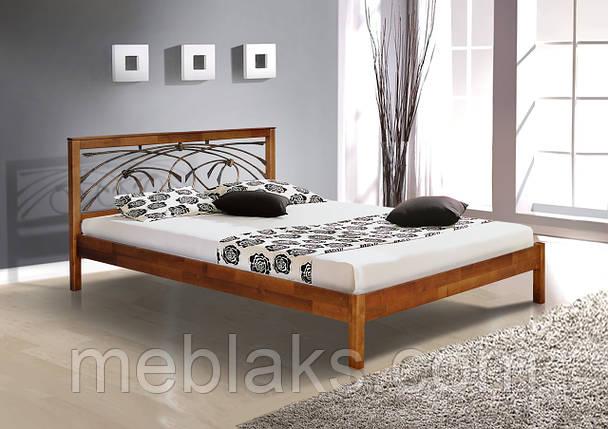 """Кровать деревянная """"Карина"""" ковка (серия Елегант)  Микс Мебель, фото 2"""