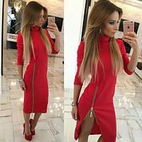 Платье гольф Жасмин красное   (код 026)