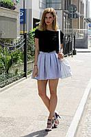 Трикотажная юбка колокольчик Agnes   (код 043)