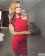 Платье летнее мини Milana красное   (код 017)