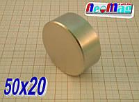 Магнит неодимовый поисковый 50х20, N42,85 кг✔Сертификат✔ Консультация✔ Реальная цена✔, фото 1