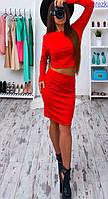 Платье костюм Gloria красный   (код 025)