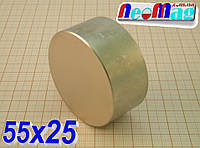 Польский магнит неодимовый 55х25, N42,115 кг ░Сертификат░подбор ░обмен░гарантия░, фото 1