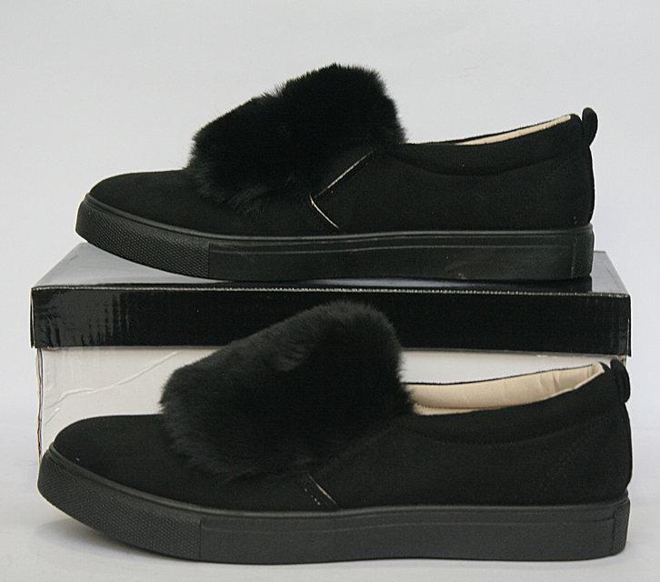 """Силипоны, кроссовки, кеды, мокасины женские черные """"Margaret"""", спортивная обувь"""