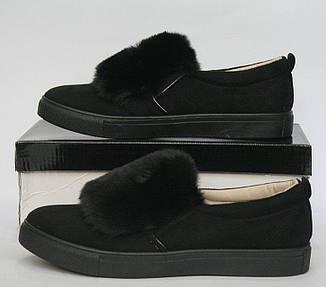 """Силипоны, кроссовки, кеды, мокасины женские черные """"Margaret"""", спортивная обувь, фото 2"""