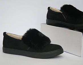"""Силипоны, кроссовки, кеды, мокасины женские черные """"Margaret"""", спортивная обувь, фото 3"""