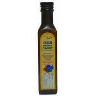 Олія насіння льону, 250 мл, скло темного кольору, металева пробка з дозатором ЖБиопродукт