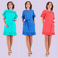 Женское льняное платье. Модель 137.  Размеры 44-50