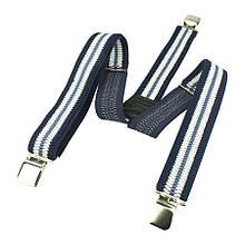 Комбіновані чоловічі підтяжки Top Gal 40-Y С сині з білою смужкою