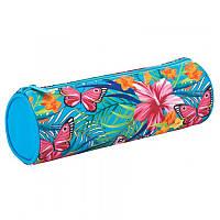 Пенал школьный Kite 640 Tropical flower, 1 отделение, (K17-640-1)