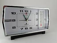 Механические часы PERFECT с будильником и термометром (классика жанра)