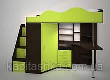 Ліжко-горище з робочою зоною і шафою