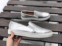 Слипоны №340-7 серебро, фото 1