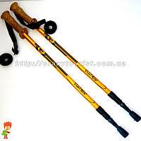 Пара трекинговых палок Viator Gold 135 см с корковой ручкой