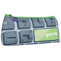 Пенал для мальчиков Zibi Game, 1 отделение Серый (ZB16.0405GM)