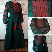 """Национальное платье с вышивкой """"Светлана"""" для женщин, габардин, 40-52 р-ры, 1550\1350 (цена за 1 шт. + 200 гр)"""