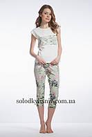 Піжама ELLEN жіноча з бриджами Квітучий Париж 080/001