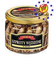 Шпроты в масле MK Szproty Wedzone 250/175 г
