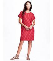 Платье женское льняное Old Navy Красное В горох