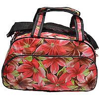 Дорожная сумка M, лилия Красный