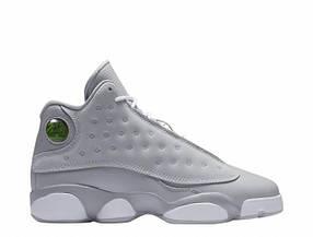Баскетбольные кроссовки Nike Air Jordan 13 - all Grey, материал - кожа + нубук, подошва - пена