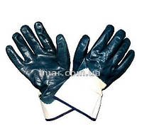 Перчатки нитрил синие с манжетом
