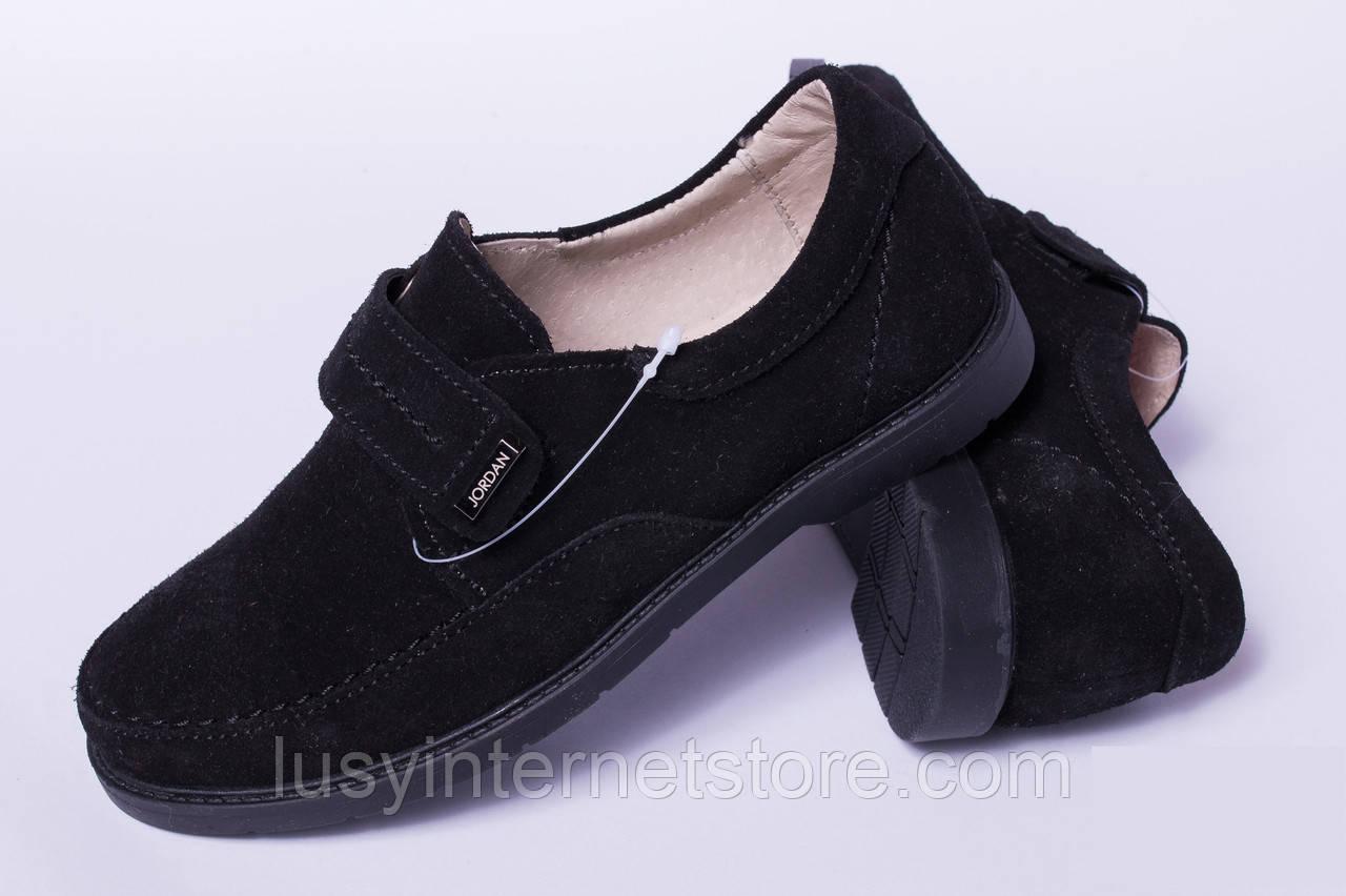 Подростковые туфли замшевые на липучке 5a4849dd22ef8