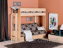 Двох'ярусне ліжко-диван