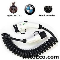Зарядный кабель для BMW i3 Type1 (J1772) - Type 2 (32A - 5 метров)