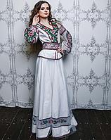 Вишитий дизайнерський костюм для нареченої, фото 1