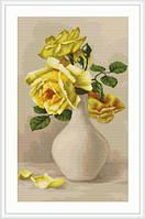 """Набор для вышивания """"Желтые розы в вазе"""""""