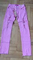 Котоновые брюки для девочек оптом Grace 140-170  см