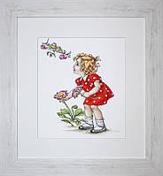 """Набор для вышивания """"Девочка в красном платье"""""""