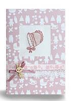 Набор для открытки с розовым чепчиком