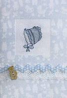 Набор для открытки с голубым чепчиком