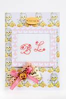 Набор для открытки с розовыми инициалами