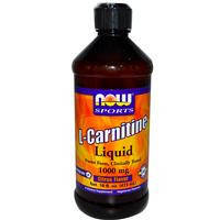 L-карнитин жидкий, Now Foods, 1000 мг, Тропический пунш,  473 мл