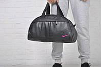 Спортивная сумка Nike логотип розовый  реплика, фото 1