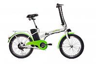 """Велосипед URBAN 20"""" Электрический 20"""", 250W бесщеточный, бело-зеленый"""