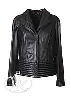 Кожаная куртка женская короткая, фото 1