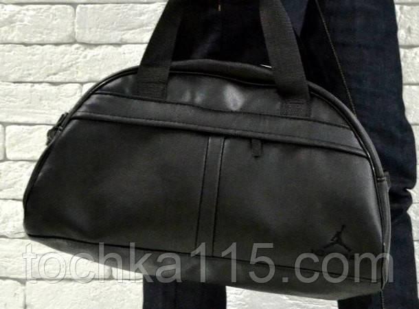 Спортивная сумка Jordan логотип черный  реплика