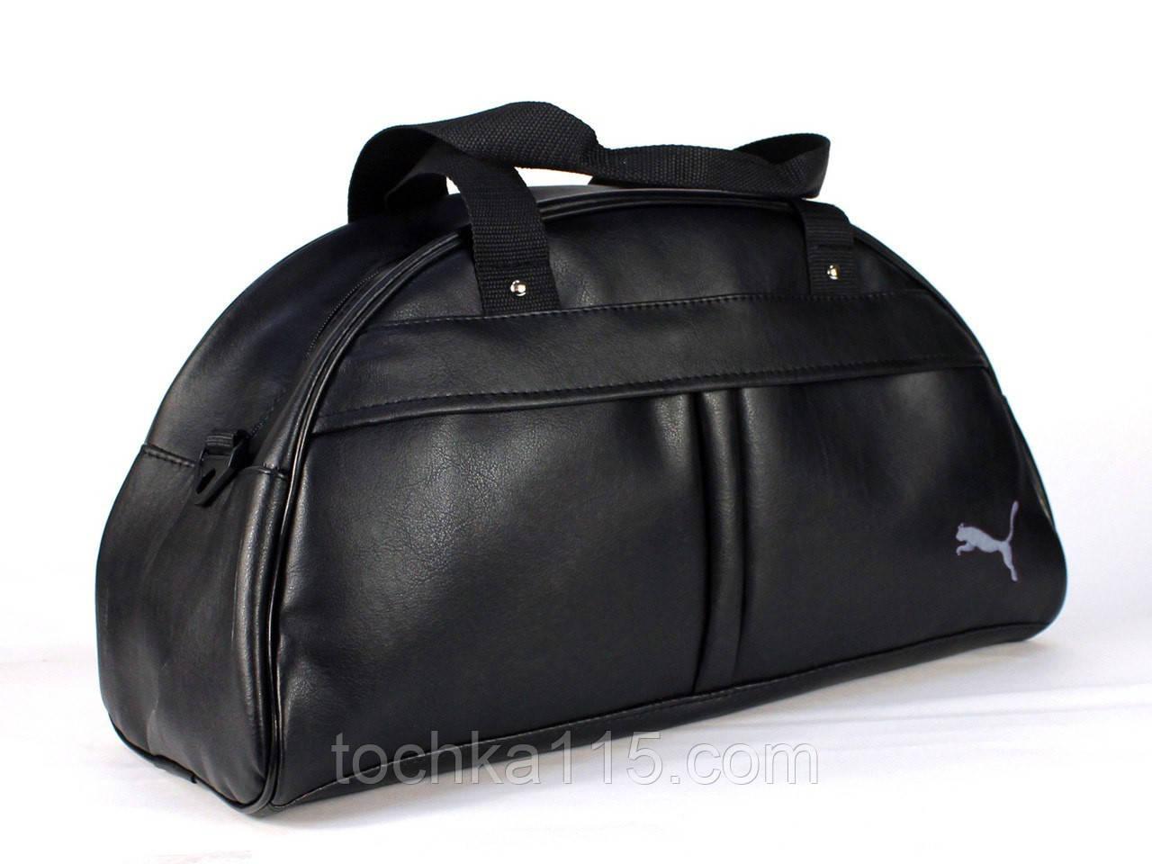 Спортивная сумка Puma логотип белый  реплика