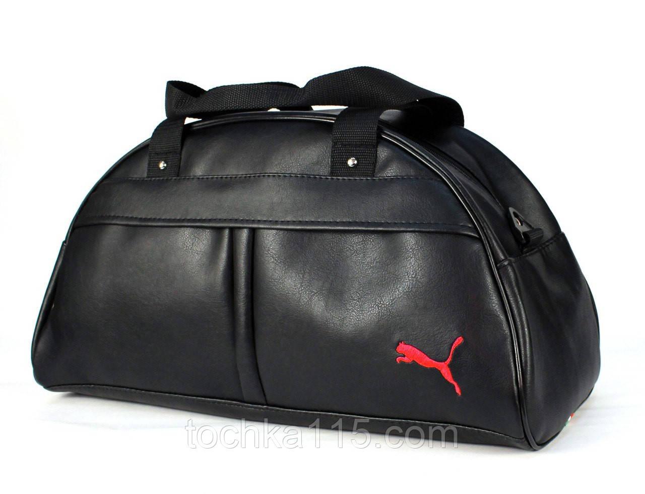Спортивная сумка Puma логотип красный  реплика